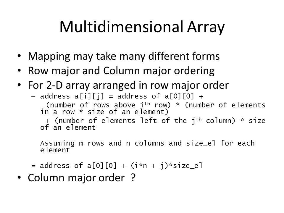 Multidimensional Array