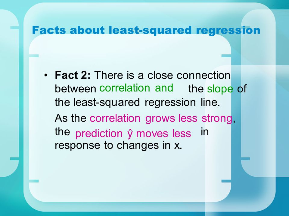 Facts about least-squared regression