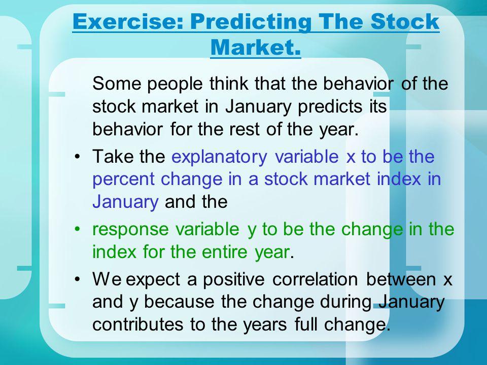 Exercise: Predicting The Stock Market.
