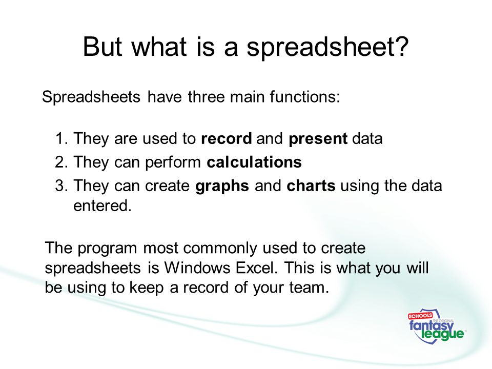 But what is a spreadsheet