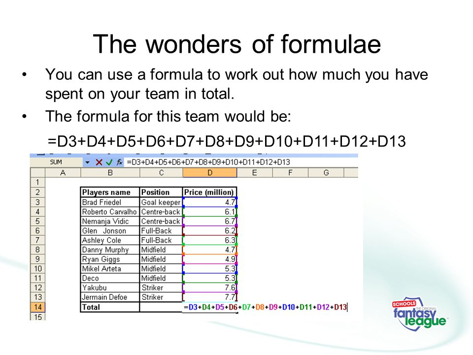 The wonders of formulae