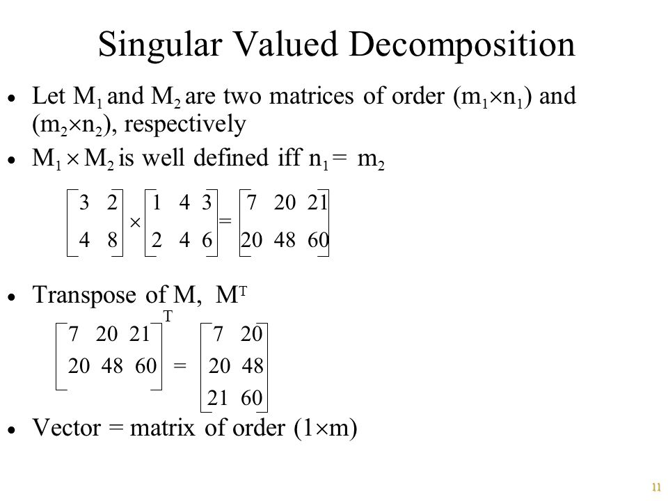 Singular Valued Decomposition