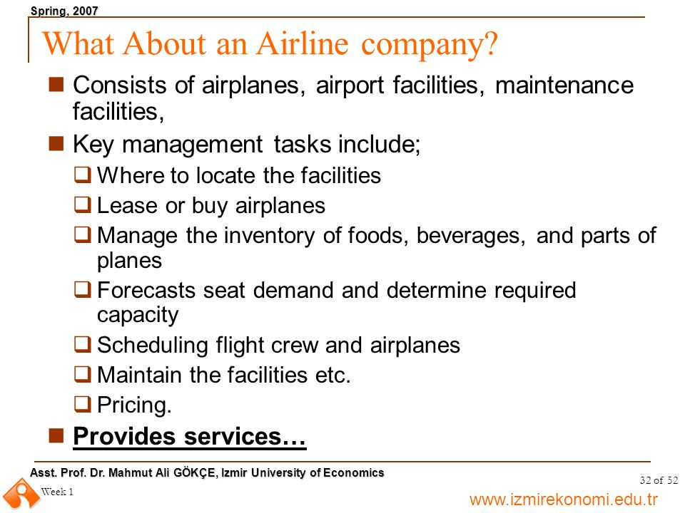 What About an Airline company