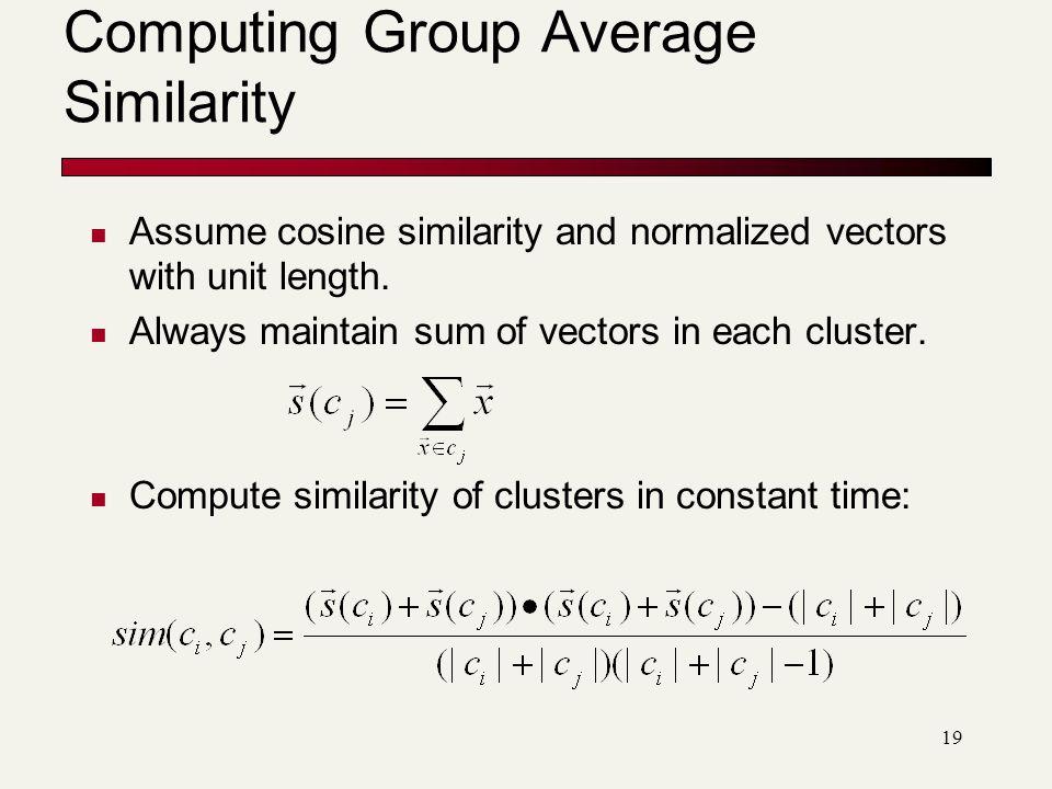 Computing Group Average Similarity
