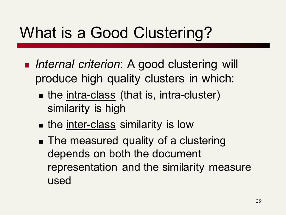 What is a Good Clustering