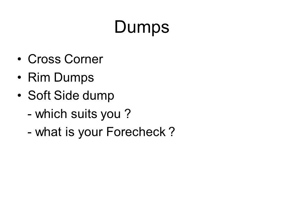 Dumps Cross Corner Rim Dumps Soft Side dump - which suits you