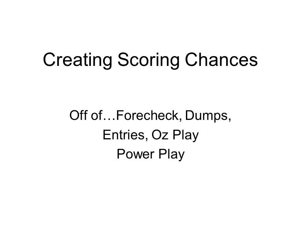 Creating Scoring Chances