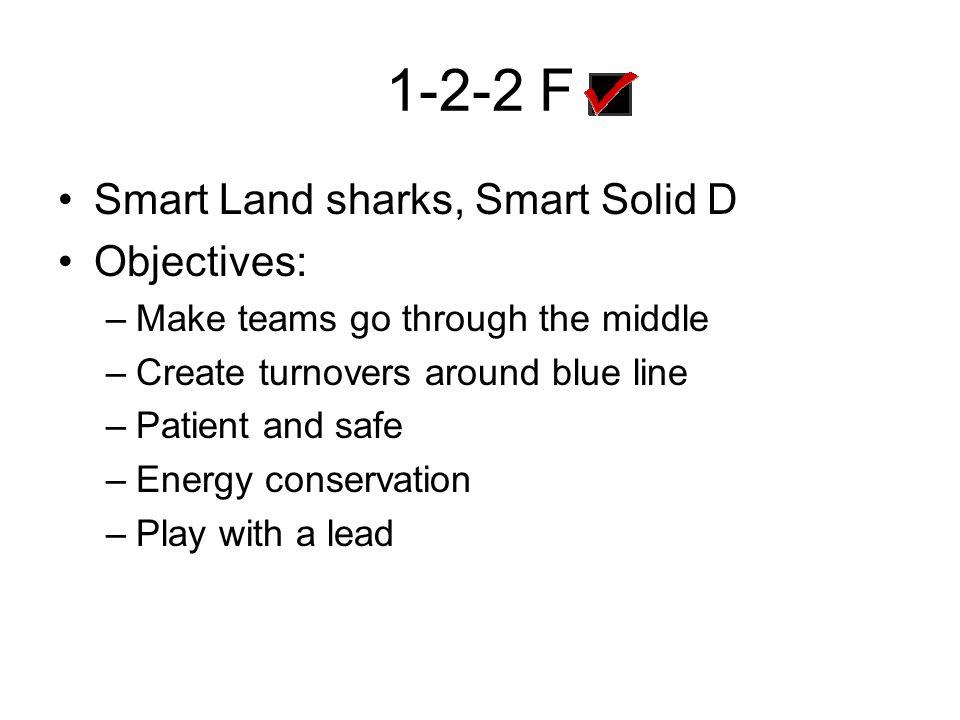 1-2-2 F Smart Land sharks, Smart Solid D Objectives: