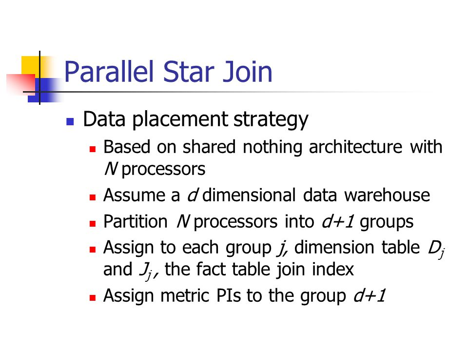 Parallel Star Join Data placement strategy
