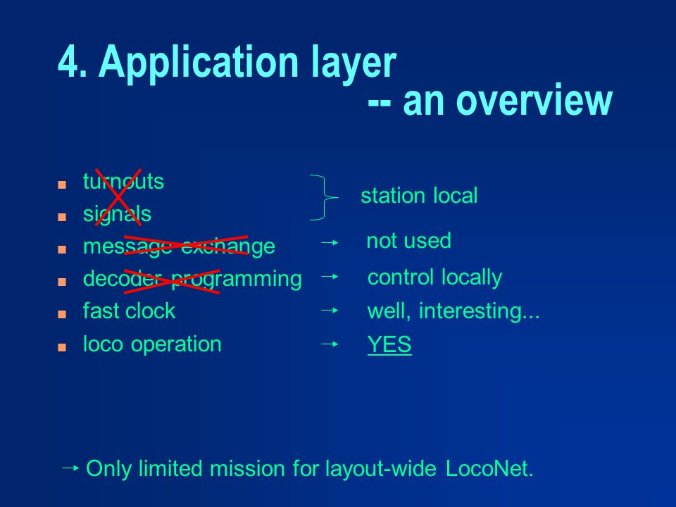 4. Application layer -- an overview