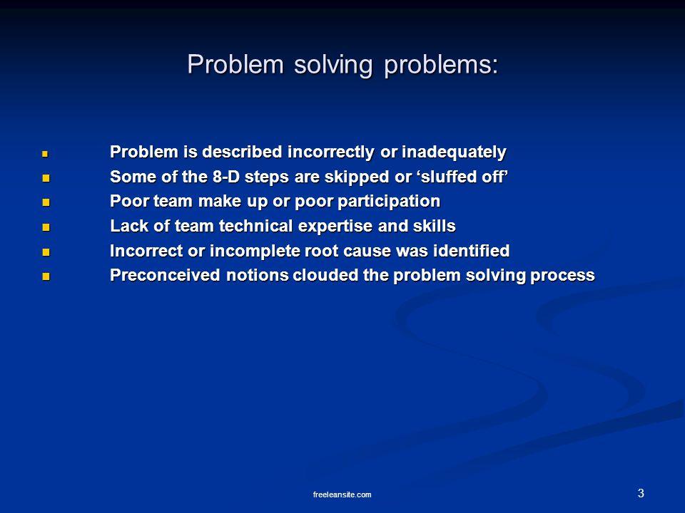 Problem solving problems: