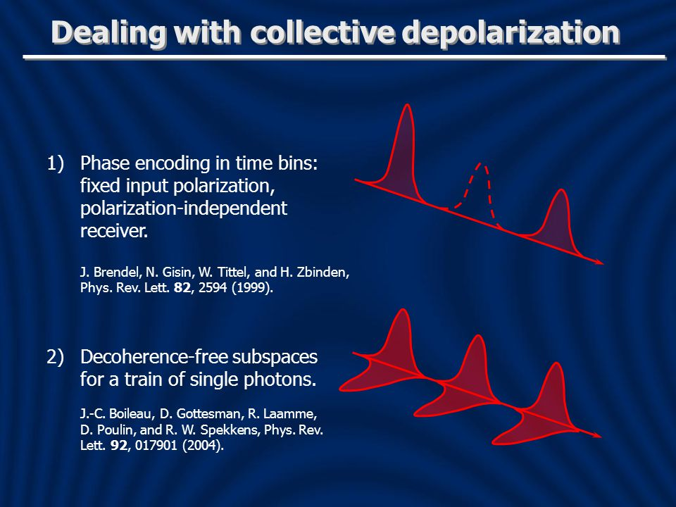 Dealing with collective depolarization