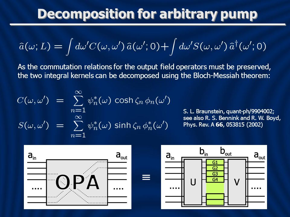 Decomposition for arbitrary pump