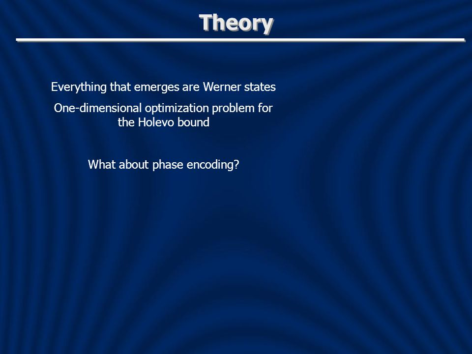 Theory Everything that emerges are Werner states