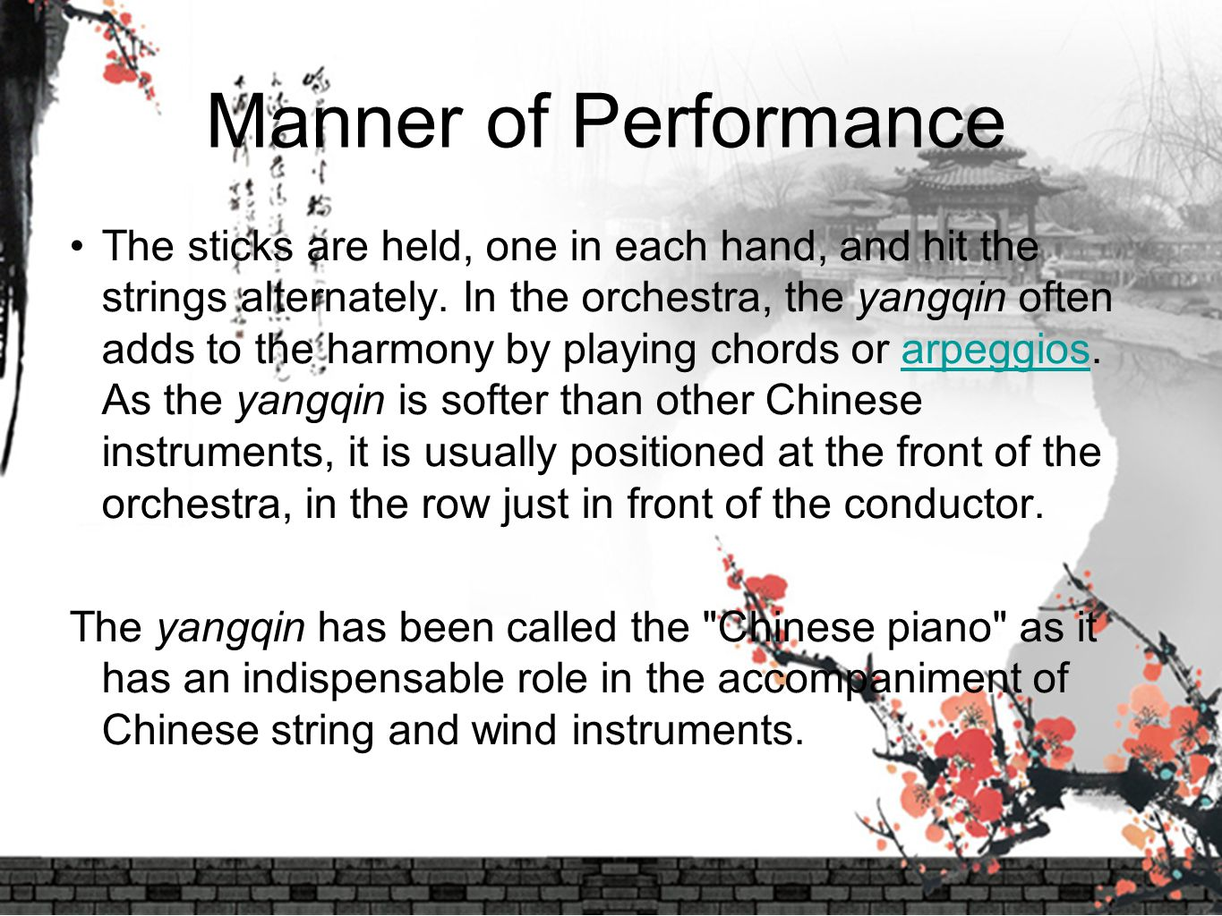Manner of Performance
