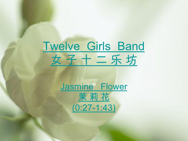 Twelve Girls Band 女 子 十 二 乐 坊 Jasmine Flower 茉 莉 花 (0:27-1:43)