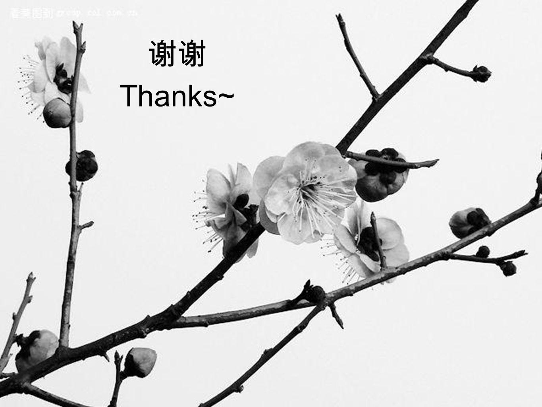 谢谢 Thanks~
