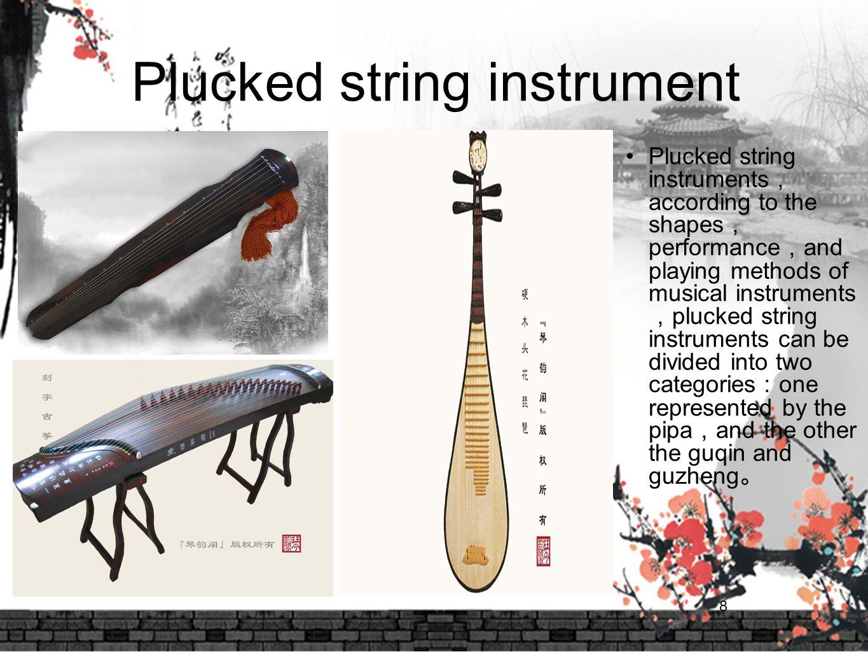 Plucked string instrument