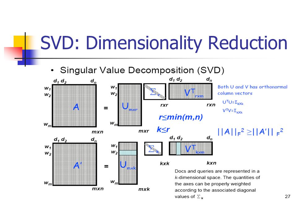 SVD: Dimensionality Reduction