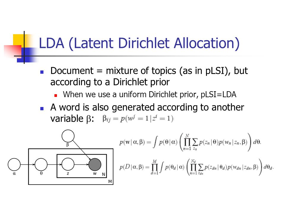 LDA (Latent Dirichlet Allocation)