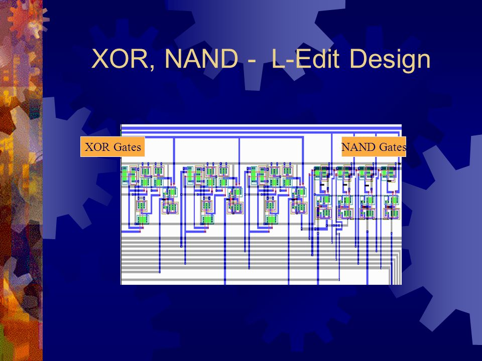 XOR, NAND - L-Edit Design