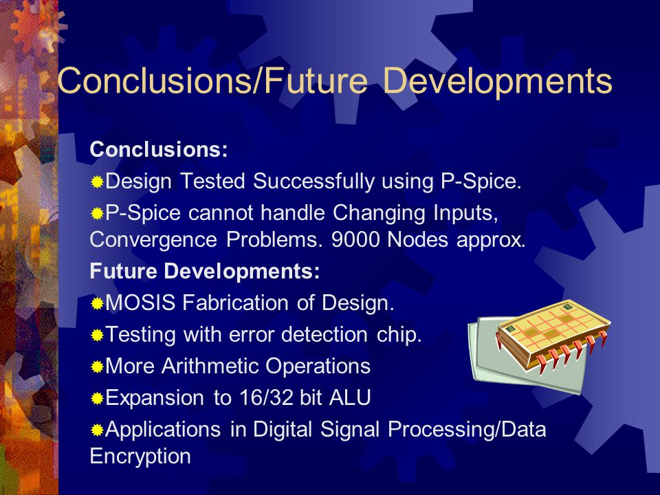 Conclusions/Future Developments