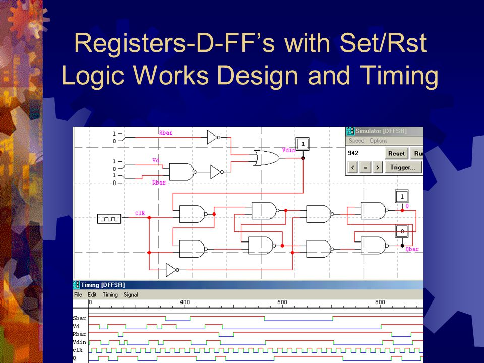 Registers-D-FF's with Set/Rst Logic Works Design and Timing