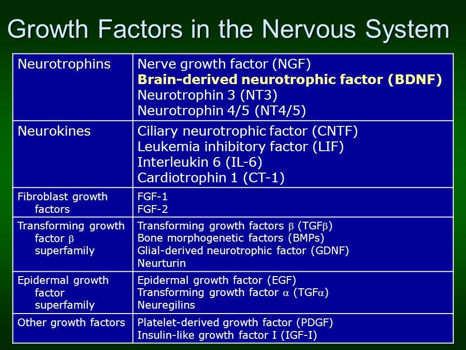 Growth Factors in the Nervous System