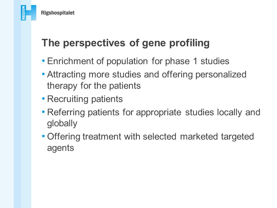 The perspectives of gene profiling