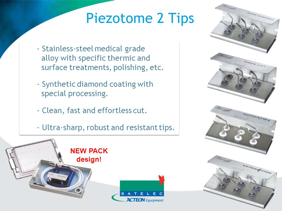 Piezotome 2 Tips Stainless-steel medical grade