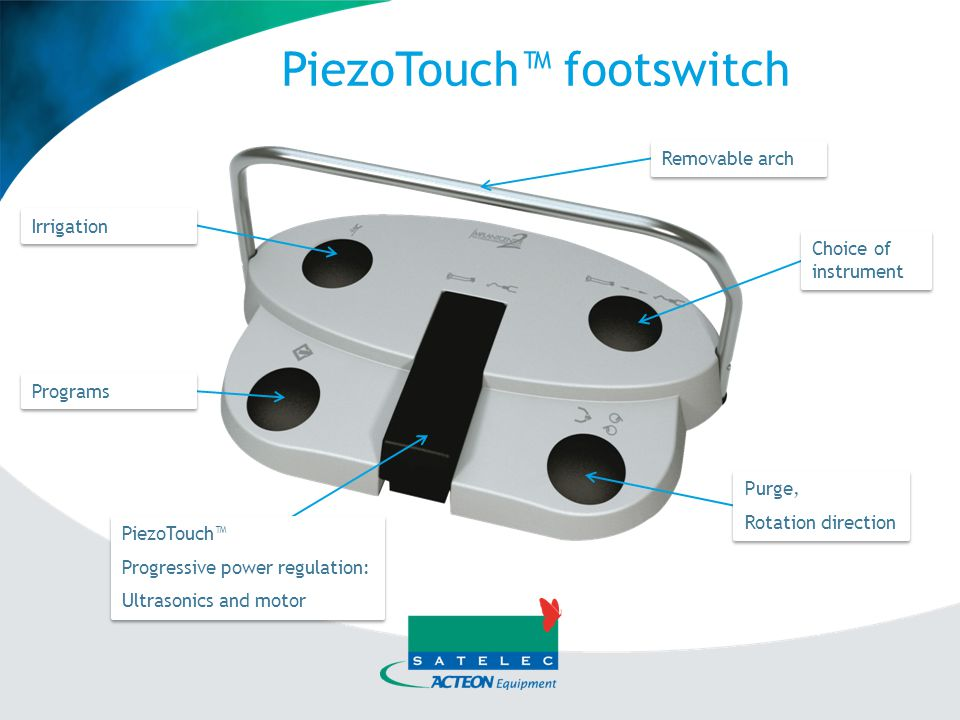 PiezoTouch™ footswitch