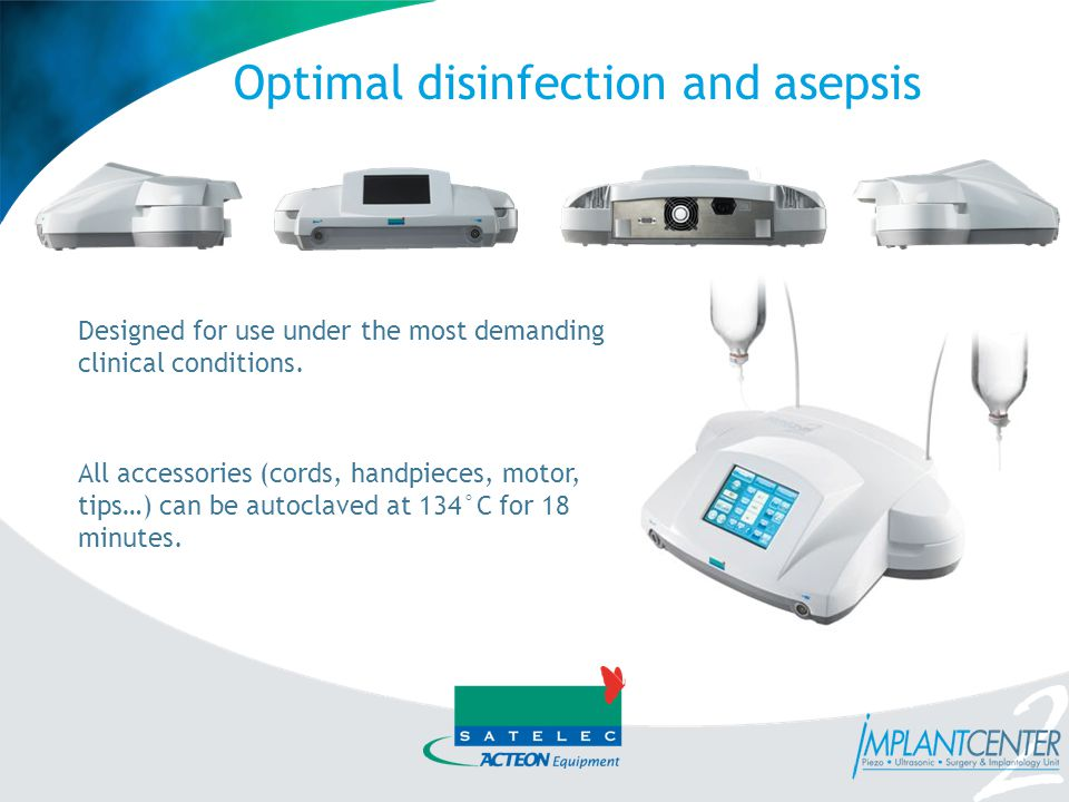 Optimal disinfection and asepsis