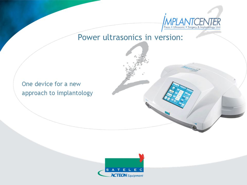 Power ultrasonics in version: