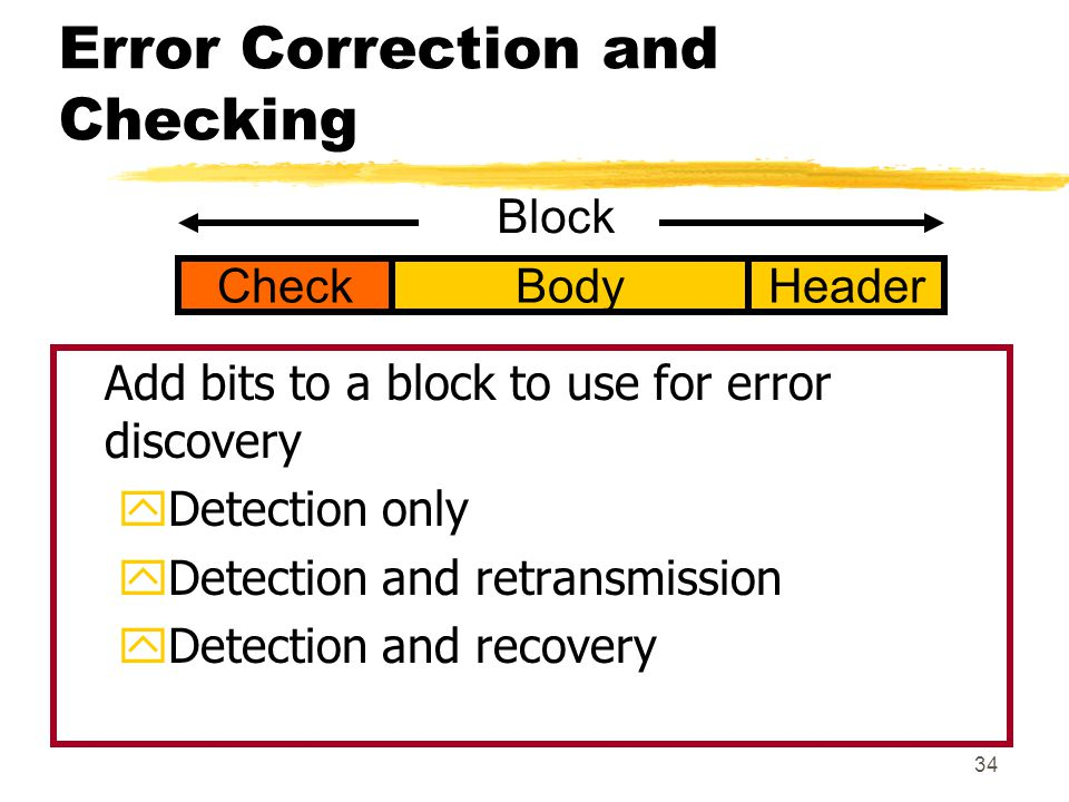 Error Correction and Checking