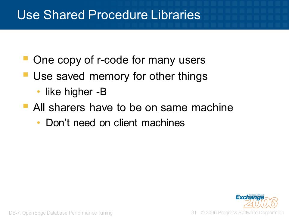 Use Shared Procedure Libraries