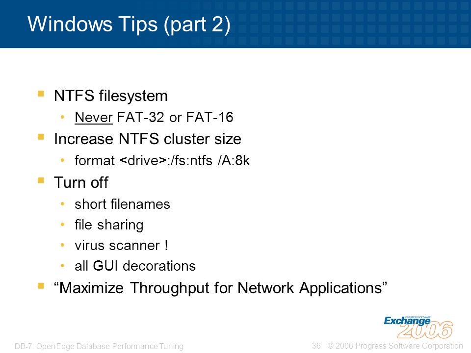 Windows Tips (part 2) NTFS filesystem Increase NTFS cluster size