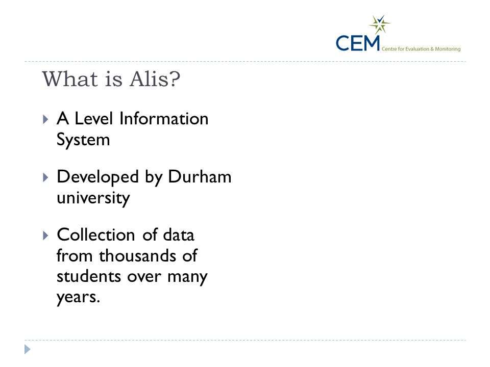 What is Alis A Level Information System