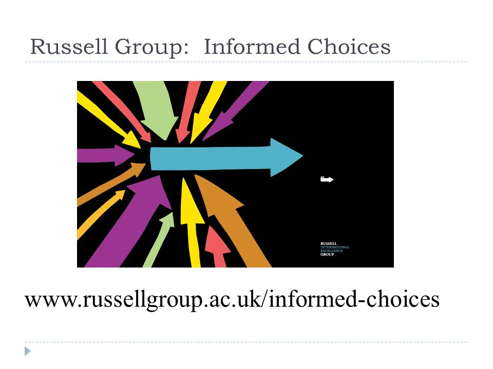 Russell Group: Informed Choices