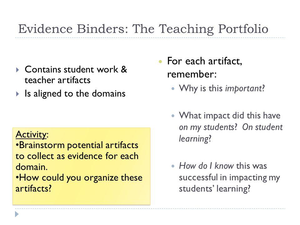 Evidence Binders: The Teaching Portfolio
