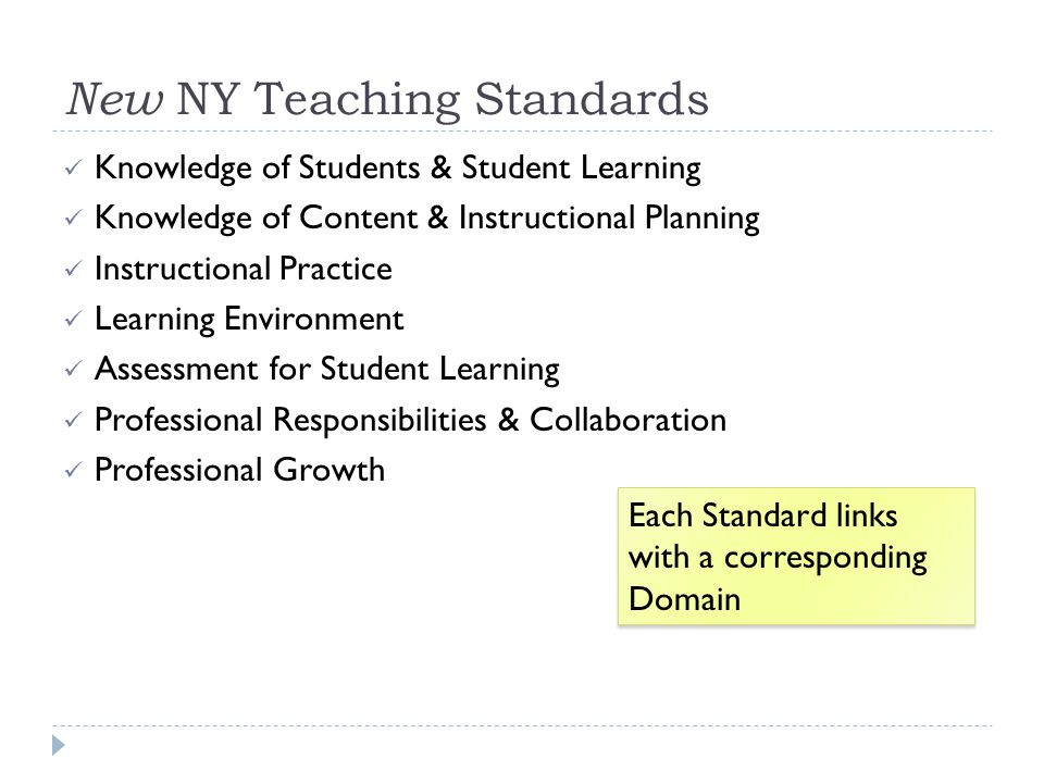 New NY Teaching Standards