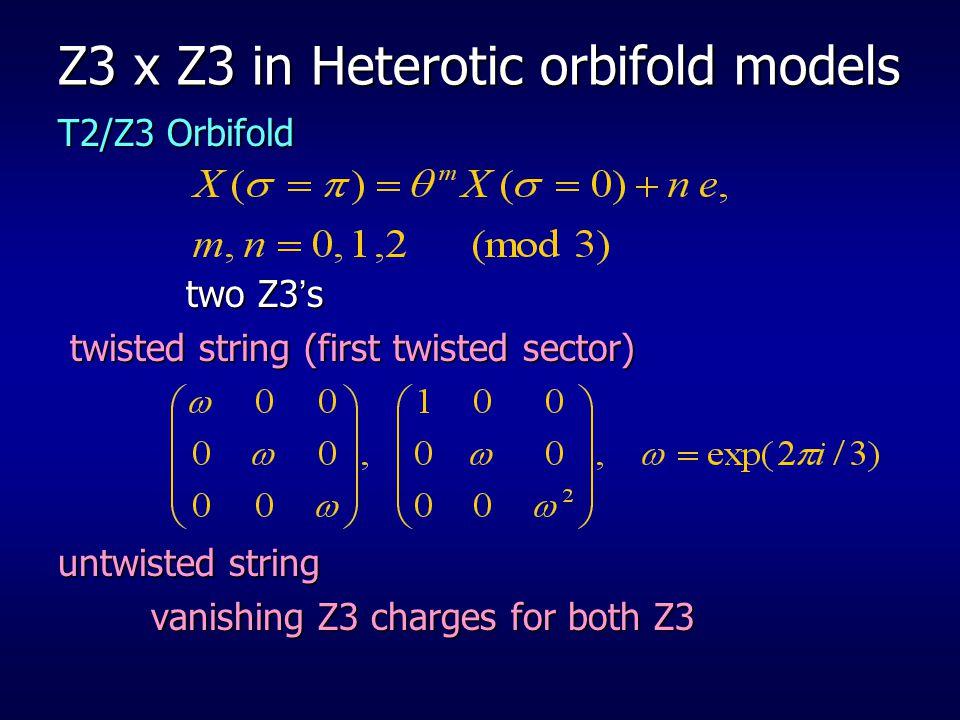 Z3 x Z3 in Heterotic orbifold models