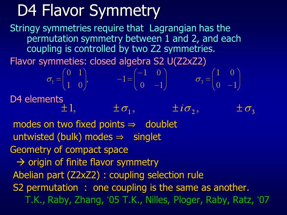 D4 Flavor Symmetry