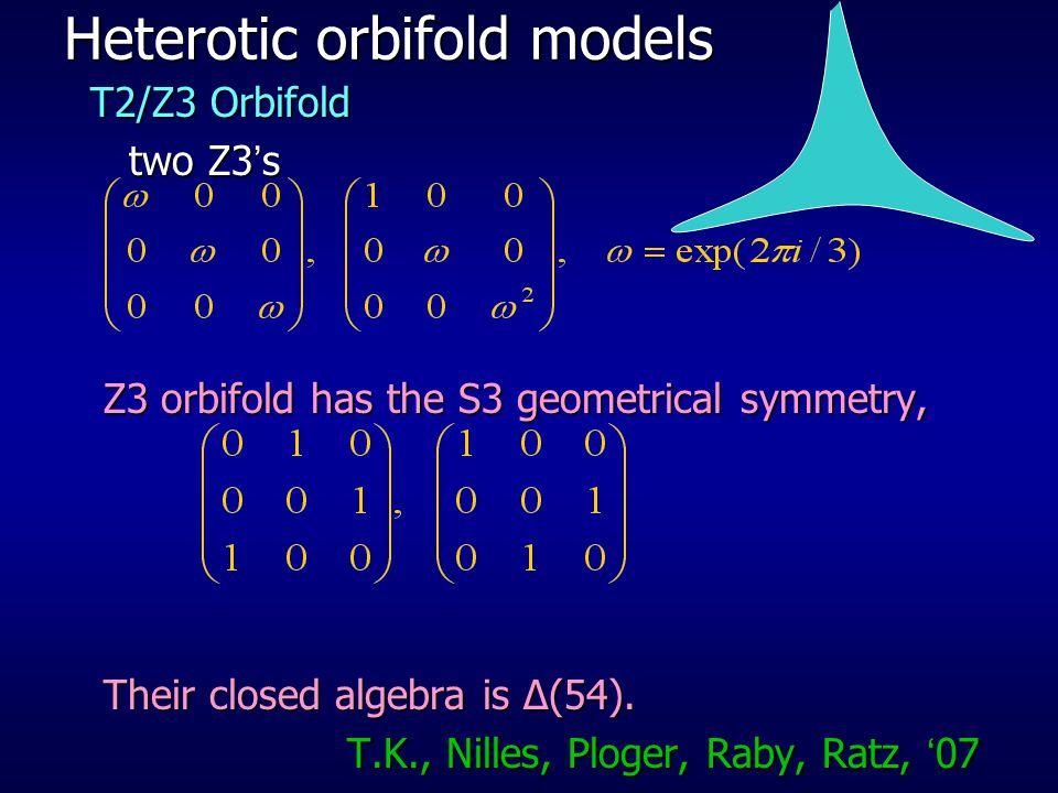 Heterotic orbifold models