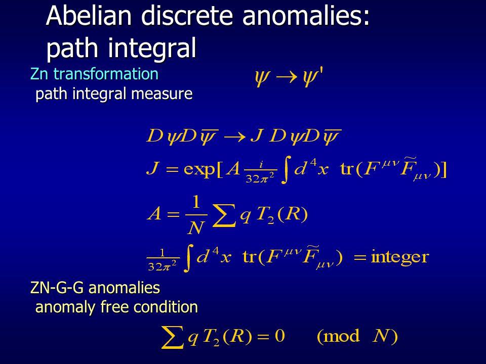 Abelian discrete anomalies: path integral