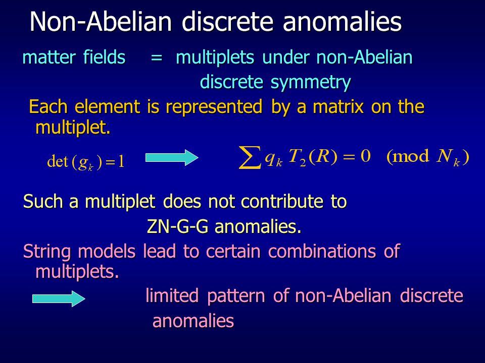 Non-Abelian discrete anomalies