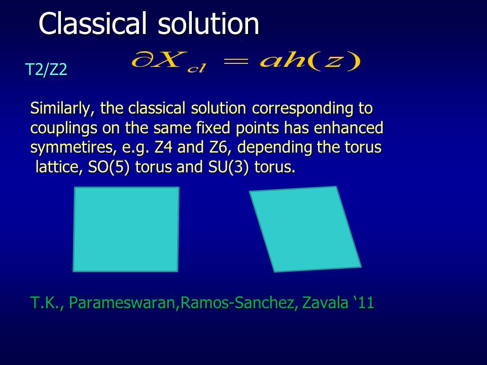 Classical solution T2/Z2