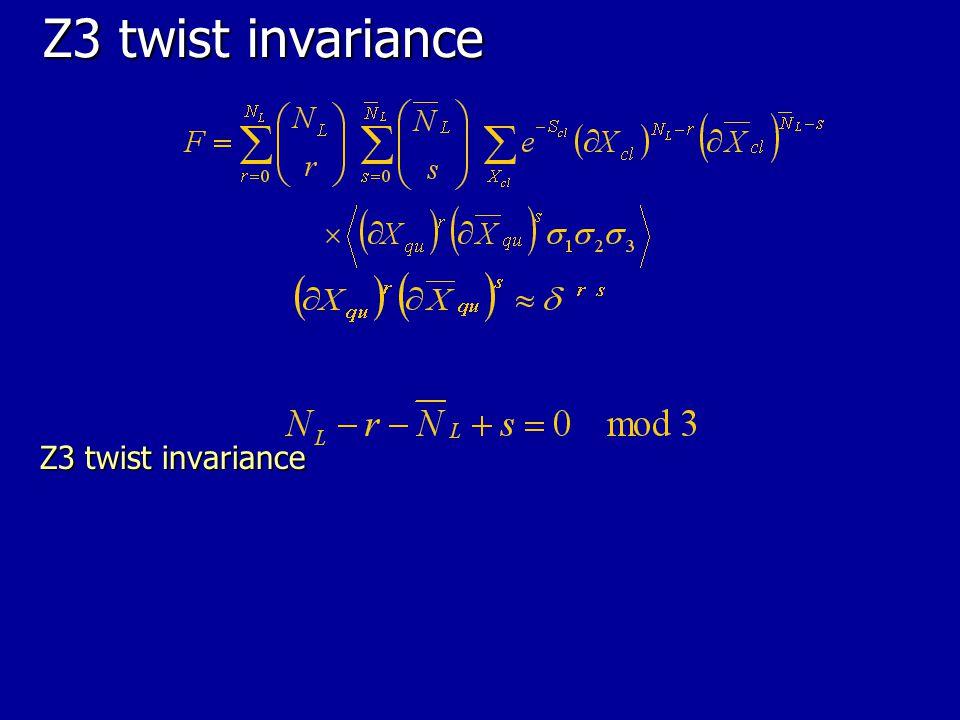 Z3 twist invariance Z3 twist invariance 44