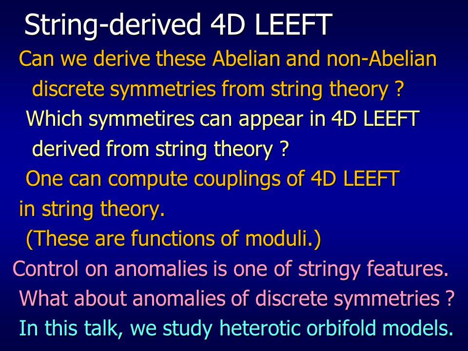 String-derived 4D LEEFT