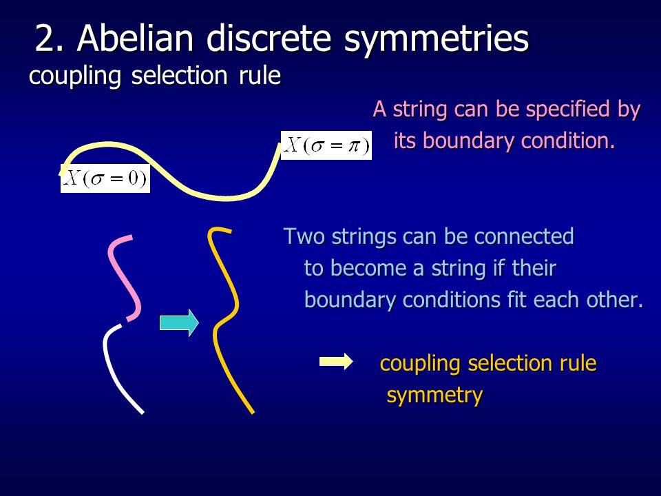 2. Abelian discrete symmetries