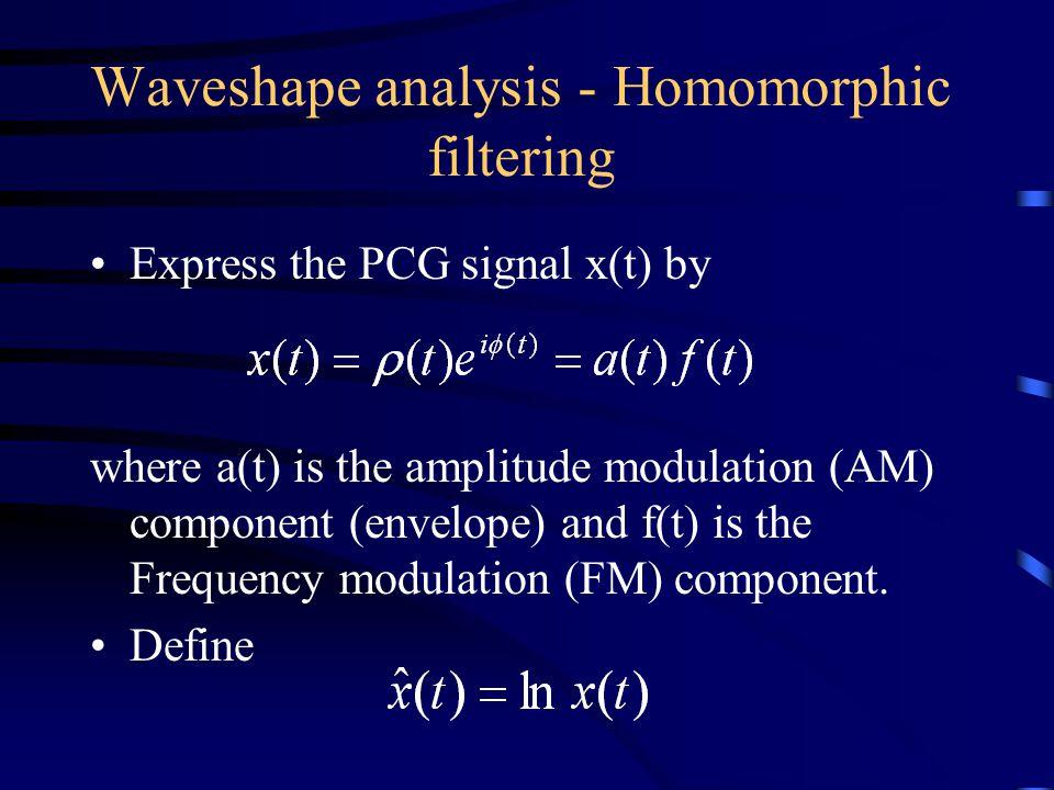 Waveshape analysis - Homomorphic filtering
